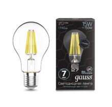 Лампа Gauss LED 102802215 Filament Graphene A60 E27 15W 4100К