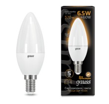 Лампа Gauss LED 103101107 Candle E14 6.5W 2700К