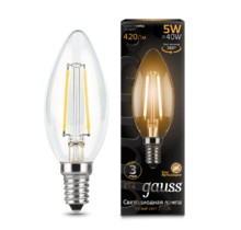 Лампа Gauss LED 103801105 Filament Candle E14 5W 2700К