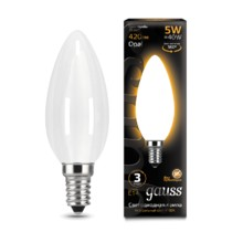 Лампа Gauss LED 103201105 Filament Candle OPAL E14 5W 2700К