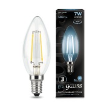 Лампа Gauss LED 103801207 Filament Candle E14 7W 4100К