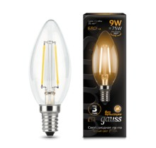Лампа Gauss LED 103801109 Filament Candle E14 9W 2700К