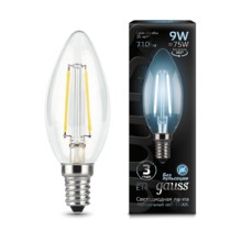 Лампа Gauss LED 103801209 Filament Candle E14 9W 4100К