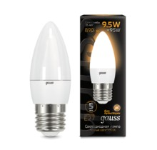 Лампа Gauss LED 103102110 Candle E27 9.5W 2700К