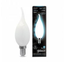 Лампа Gauss LED 104201205 Filament Candle Tailed OPAL E14 5W 4100К
