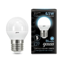Лампа Gauss LED 105102207 Globe E27 6.5W 4100K