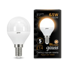 Лампа Gauss LED 105101107 Globe E14 6.5W 2700K