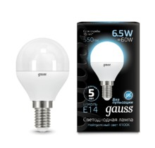 Лампа Gauss LED 105101207 Globe E14 6.5W 4100K