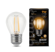 Лампа Gauss LED 105802109 Filament Globe E27 9W 2700K