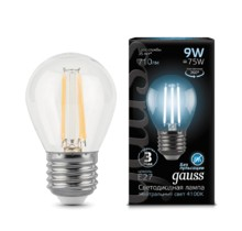 Лампа Gauss LED 105802209 Filament Globe E27 9W 4100K