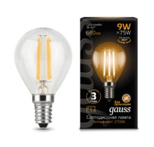 Лампа Gauss LED 105801209 Filament Globe E14 9W 4100K