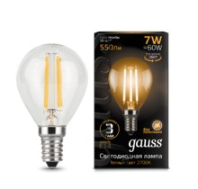 Лампа Gauss LED 105801107 Filament Globe E14 7W 2700K
