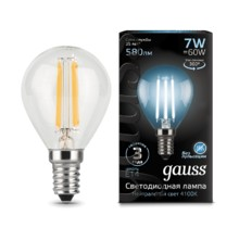Лампа Gauss LED 105801207 Filament Globe E14 7W 4100K