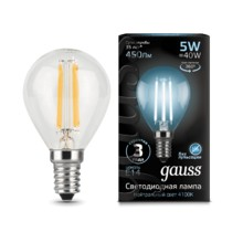Лампа Gauss LED 105801205 Filament Globe E14 5W 4100K