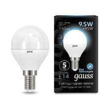 Лампа Gauss LED 105101210 Globe E14 9.5W 4100K