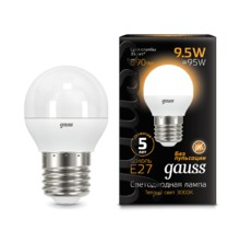 Лампа Gauss LED 105102110 Globe E27 9.5W 3000K