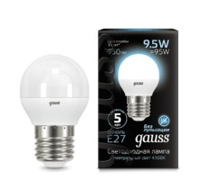 Лампа Gauss LED 105102210 Globe E27 9.5W 4100K