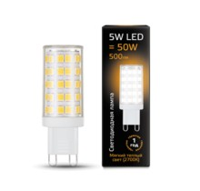 Лампа Gauss LED 107309105 G9 AC185-265V 5W 2700K керамика