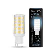 Лампа Gauss LED 107309205 G9 AC185-265V 5W 4100K керамика