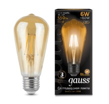 Лампа Gauss LED Vintage Filament 102802006