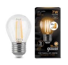 Лампа Gauss LED 105802107-S Filament Globe E14 7W 2700K step dimmable