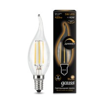 Лампа Gauss LED 104801105-D Filament Candle tailed dimmable E14 5W 2700k