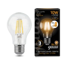 Лампа Gauss LED 102802110-S Filament A60 E27 10W 2700К step dimmable