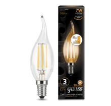 Лампа Gauss LED 104801107-S Filament Candle tailed E14 7W 2700K step dimmable
