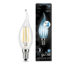 Лампа Gauss LED 104801207-S Filament Candle tailed E14 7W 4100K step dimmable