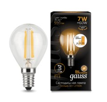 Лампа Gauss LED 105801107-S Filament Globe E14 7W 2700K step dimmable