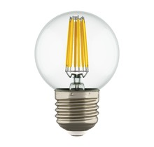 933822 Лампа LED FILAMENT 220V G50  E27 6W=65W 400-430LM 360G CL 3000K 30000H (в комплекте)